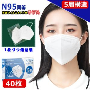 KN95 マスク 米国 N95 マスク同等 n95 mask kn95 mask 防塵マスク 企業向け大きLOT PM2.5対応 5層構造 花粉対策 有害ウィルスカット率96%以上の画像