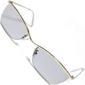 シルバー×Lスモーク サングラス 度なしメガネ ファッションメガネ めがね 眼鏡 メンズ レディース 丸 四角 透明 色付き オラオラ 大き|itoyan