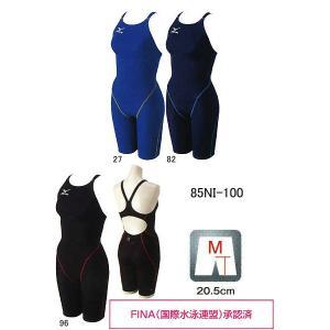 ミズノ 女の子 MIGHTY LINE II(マイティライン2)85NI-100 ハーフスーツ 競泳水着 FINA承認 130サイズ 140サイズ メール便対応|itspo