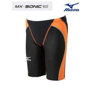 ミズノ MX SONIC 10 85RD-320 メンズ ハーフスパッツ 競泳水着 FINA承認 Lサイズ メール便対応|itspo