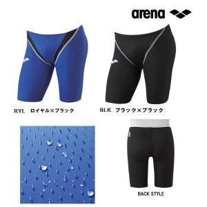 アリーナ arena ハーフスパッツ ARN1005 メンズ/競泳水着/ハーフスパッツ/ブルー系/Sサイズ/ラスト1点/メール便対応|itspo