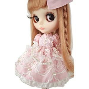 ブライス 1/6ドール用 アウトフィット 服 衣装 虹の綿あめ ピンクのワンピース|itsudemokaden