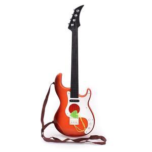 フェリモア 子供用 エレキギター 本格 ミニサイズ おもちゃ 持ち運び楽々 ストラップ ピック付き|itsudemokaden