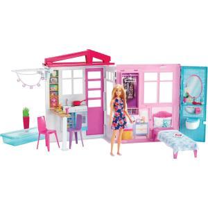 バービー かわいいピンクのプールハウス FXG55