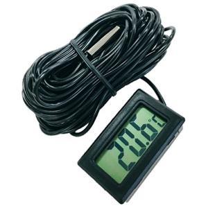 簡単便利 小型 デジタル 温度計 とっても 長い コード 10メートル -50℃?+110℃ (コー...