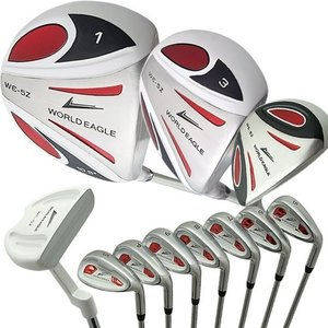 WORLD EAGLE(ワールドイーグル) 5Z メンズ ゴルフ クラブ フルセット ホワイト 右用...