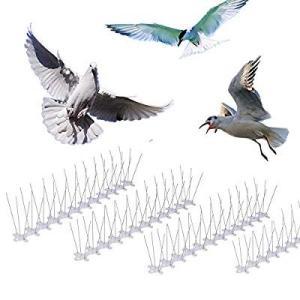 skycabin 鳥よけ ステンレス 害獣よけとげマット とげピー とうめい鳥よけシート フン害防止・景観を損なわずハトなどの害鳥による被害|itsudemokaden