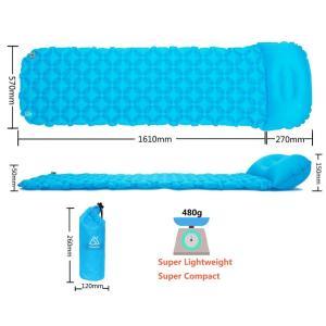 エアーマット キャンプマット 枕が付き コンパクト 5CM厚さ アウトドアマット 寝袋テントマット ...