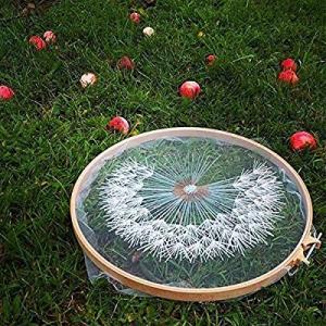 タンポポ 刺繍材料 セット 立体な刺繍へ 刺繍糸 刺繍用布 刺繍枠 針、スパンコール、ビーズ、刺繍用布・糸・枠付き|itsudemokaden