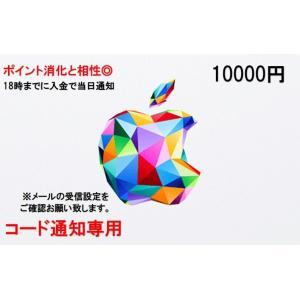 iTunes10000円券 ※在庫状況によっては5000円×2枚で送付する場合が御座います。 複数枚...