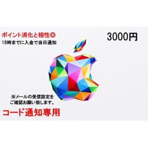 iTunes Card アイチューンズ カード Apple 3000円券 コード通知