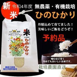 新米ひのひかり 令和2年度産 無農薬・有機肥料栽培 5kg 農園直送 送料無料