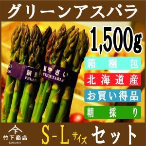 【2021年予約】アスパラ グリーン アスパラガス 北海道産 1,500g S-Lサイズ|iwafo