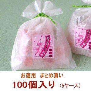 桜スイーツ 京さくらのど飴 5ケース(100個)まとめ買い|iwaiseika