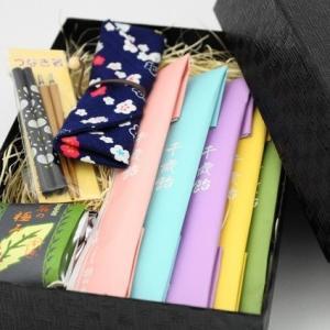 千歳飴 贈答用 ギフト つなぎ箸入り 箸袋(猫と花柄)七五三 iwaiseika