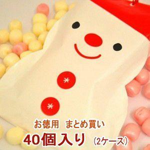クリスマス お菓子 業務用 まとめ買い スノーマン パック キャンディ 2ケース(40個)|iwaiseika