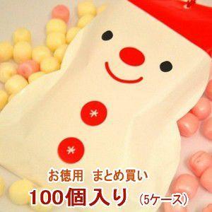 クリスマス お菓子 業務用 まとめ買い スノーマン パック キャンディ 5ケース(100個)|iwaiseika