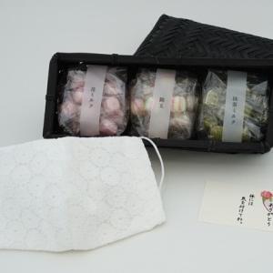 母の日 母の日ギフト 飴 マスク 竹籠セット 〜アメトマスク〜(送料無料)|iwaiseika