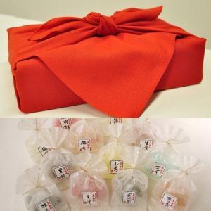 ホワイトデー お返し 送料無料 風呂敷包み「彩り京飴セット」|iwaiseika
