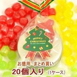 クリスマス お菓子 業務用 まとめ買い クリスマスキャンディ 缶 1ケース(20個)|iwaiseika