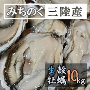 牡蠣 生食OK みちのく三陸産 殻付き生牡蠣 10kg 送料無料 鍋 バーベキュー  新鮮 石巻 宮...