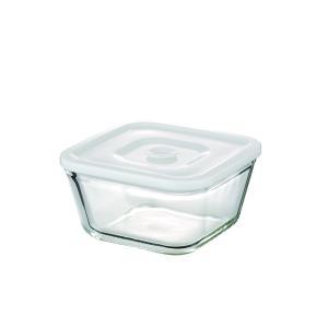 NEW 簡単密閉 iwaki(イワキ) 密閉パック&レンジ(ホワイト)容量 700ml 耐熱ガラス ガラス 保存容器 白 常備菜 つくおき 作り置き|iwaki-kitchenshop-y