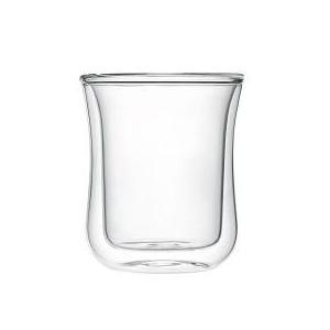 iwaki イワキ エアーグラス 把手なし 2重構造 耐熱ガラス ダブルウォール ホット グラス お茶 コーヒー 紅茶 お湯割り|iwaki-kitchenshop-y
