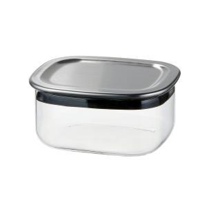 メーカー公式 新製品 iwakiスクエアパック 保存容器 保存 ステンレス K7747K-SV|iwaki-kitchenshop-y
