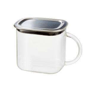メーカー公式 新製品 iwakiスクエアパック(取手付き) 保存容器 保存 ステンレス K7796KT-SV|iwaki-kitchenshop-y