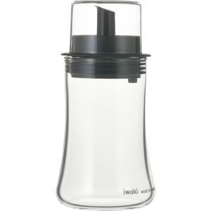 iwaki イワキ フタ付オイル差し S120ml 耐熱ガラス ガラス 調味料 オイル 調味料入れ 油 ごま油 オリーブオイル グッドデザイン賞|iwaki-kitchenshop-y