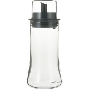 iwaki イワキ フタ付オイル差し M 160ml 耐熱ガラス ガラス 調味料入れ 調味料 オイル 油 ごま油 オリーブオイル グッドデザイン賞 シンプル|iwaki-kitchenshop-y
