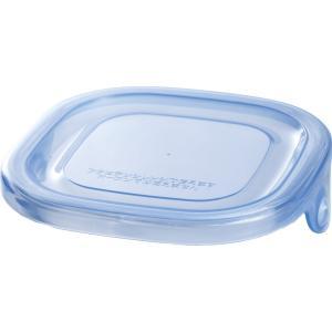 【部品】NEWパック&レンジ アクアブルー(【容量】200ml 【寸法】幅(約:)9.3cm 奥行(約):9.2cm)用のふた iwaki-kitchenshop-y