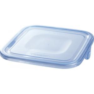 【部品】NEWパック&レンジ アクアブルー(【容量】800ml・1L 【寸法】幅(約:)15.6cm 奥行(約):15.6cm)用のふた iwaki-kitchenshop-y