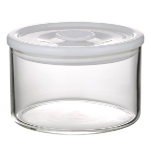 NEW 簡単密閉 iwaki(イワキ) 密閉パック&レンジ(ホワイト) 容量 200ml 耐熱ガラス ガラス 保存容器 白 常備菜 つくおき 作り置き T721MP-W iwaki-kitchenshop-y