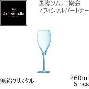 シェフ&ソムリエ ウノローグ・エキスパート フルートグラス 260ml 6個入 シャンパン スパークリングワイン U0952-6P|iwaki-kitchenshop-y
