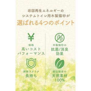 猫砂 木質ペレット 小分け 2kg (3.2L)×8 システムトイレ用 崩れるタイプ|iwakunisaisei-energy|03