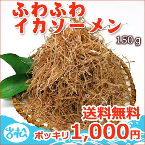 ふわふわイカソーメン【150g】1,000円 送料無料 常温便 ネコポス便|iwamatsu-salmon