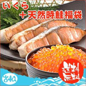 いくら+天然時鮭10切  送料無料|iwamatsu-salmon