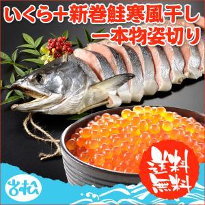 いくら+新巻鮭寒風干し一本物姿切り 送料無料|iwamatsu-salmon