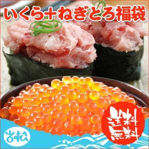 いくら 醤油漬け アラスカ 200g ねぎとろ 200g 送料無料 福袋 あすつく|iwamatsu-salmon
