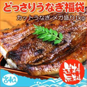 どっさりうなぎ福袋 国産 送料無料 カットうなぎ1kg 約16〜22枚 あすつく|iwamatsu-salmon