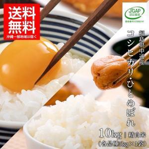 JGAP認証農場いわせの錦秋米福島県中通産コシヒカリ・ひとめぼれ 1等精白米5kg×各1袋|iwaseno-kinnsyuumai