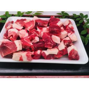 広島県産 天然猪肉のブツ切り(1kg)500g×2  煮込み料理、鍋に!  ネック、ウデ、バラが主に...