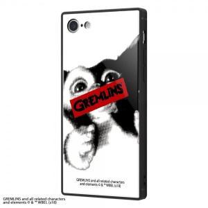 iPhone 8/iPhone 7 耐衝撃ガラスケース KAKU グレムリン WARNING IQ-...