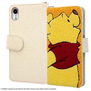 iPhone XR 『ディズニーキャラクター』-サガラ刺繍 手帳型ケース 帆布-プー/プー IS-D...