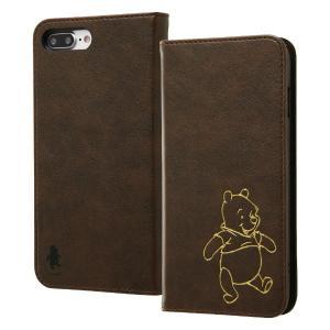 iPhone 8 Plus/7 Plus ディズニー/手帳 ホットスタンプ/プー RT-DP15IP...