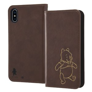 レイ・アウト iPhone X用 ディズニー/手帳型ケース ホットスタンプ/プー RT-DP16IP...