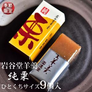 岩谷堂羊羹 純栗 ひとくちサイズ9個入