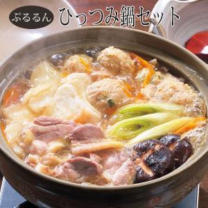 南部かしわ地鶏 ぷるるんひっつみ鍋セット【送料無料】【同梱不可】|iwatekensan-netshop