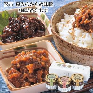 ご飯のお供 お取り寄せ 送料無料 三陸宮古 恵みのからめ味噌 3種詰め合わせ|iwatekensan-netshop